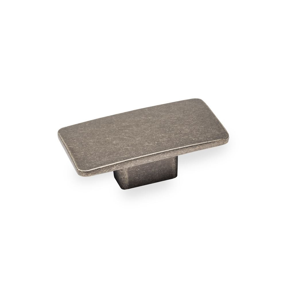 CAMDEN, Rectangular Knob, Pewter