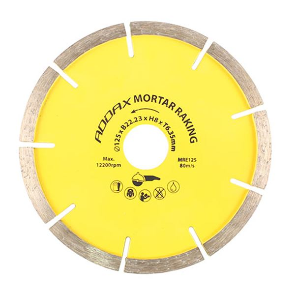 125 x 22.2 Mortar Raking Blade - 7mm Seg (1 Box)