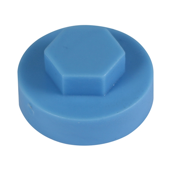 16mm Hex Cover Cap - Cornflower (1000 Bag)