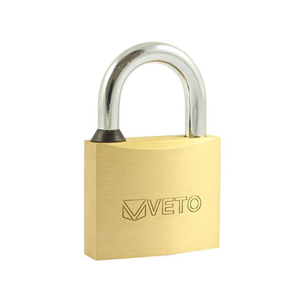 50mm Veto Brass Padlock (1 Blister Pack)