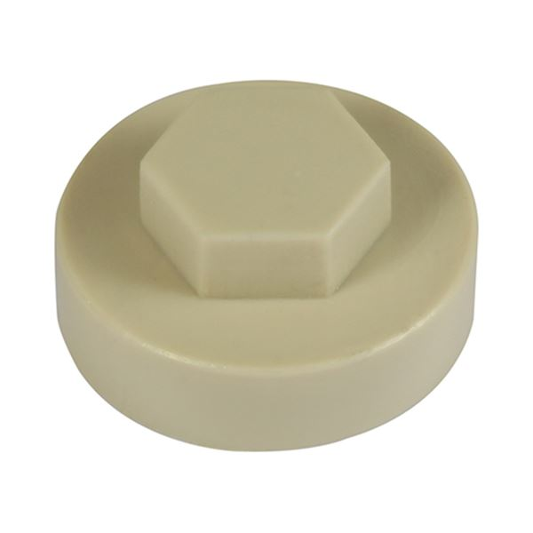 16mm Hex Cover Cap - Beige (1000 Bag)