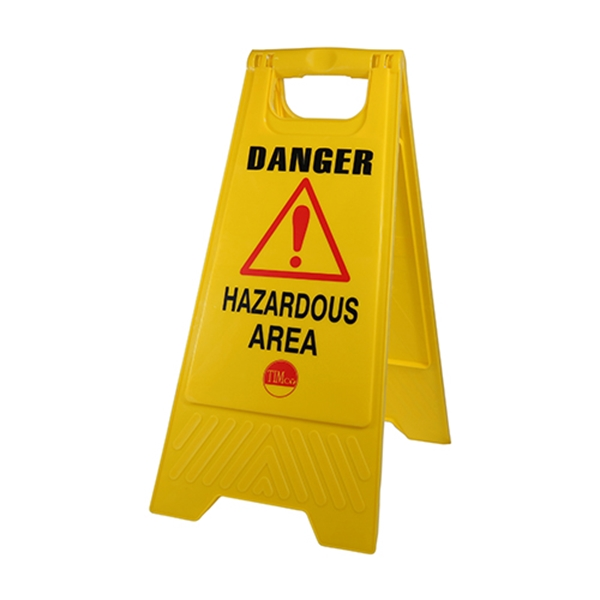 610 x 300 x 30 A-Frame Sign Hazardous Area (1 Bag)
